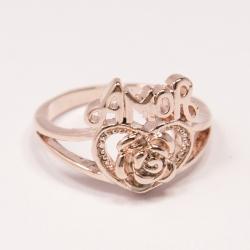 Кольцо Аэлина№125 под золото с белыми стразами ,размерное