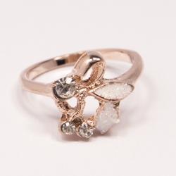 Кольцо Аэлина№122 под золото с белыми стразами ,размерное
