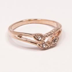 Кольцо Аэлина№119 под золото с белыми стразами ,размерное
