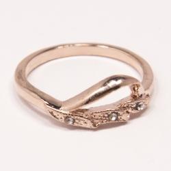 Кольцо Аэлина№116 под золото с белыми стразами ,размерное
