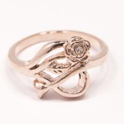 Кольцо Аэлина№133 под золото с белыми стразами ,размерное