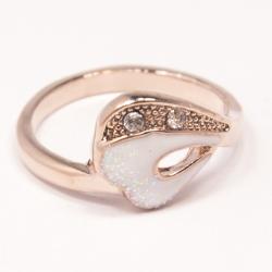 Кольцо Аэлина№131 под золото с белыми стразами ,размерное