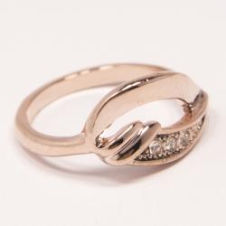 Кольцо Аэлина№109 под золото с белыми стразами ,размерное