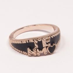 Кольцо Аэлина№97 под золото с черной эмалью