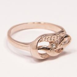 Кольцо Аэлина№100 под золото с белыми стразами ,размерное