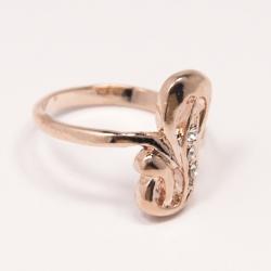 Кольцо Аэлина№103 под золото с белыми стразами ,размерное