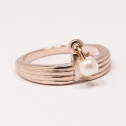 Кольцо Аэлина№81 под золото с жемчужинкой