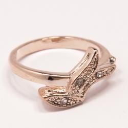 Кольцо Аэлина№86 под золото с белыми стразами ,размерное
