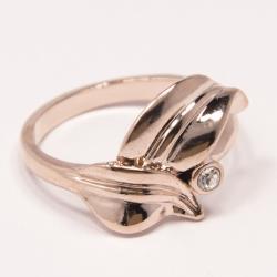 Кольцо Аэлина№87 под золото с белыми стразами ,размерное