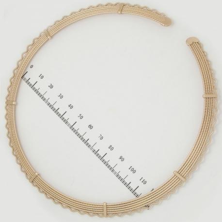 Цепочка Xuping№253 стильные колечки с обрамлением.