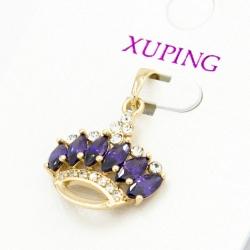 Кулон Xuping№254 корона с цирконами фиолетового цвета.