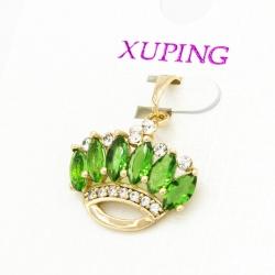 Кулон Xuping№256 корона с цирконами зеленого цвета.
