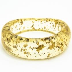Браслет №752 силиконовый с золотыми вкраплениями